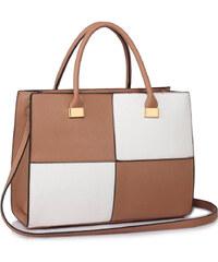 LS Fashion Moderní kabelka LS00153XL NUDEWHITE 6fd05b98df2