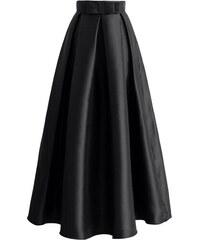 CHICWISH Dámská maxi sukně Divizna černá 5f21f22393