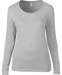 Anvil Dámské jednobarevné triko s dlouhým rukávem Scoop Tee e6010e5cac