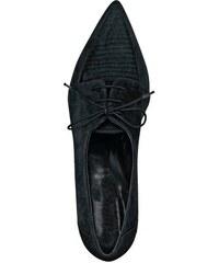 Dámske kožené čierne mokasíny HEINE 47bff29b521