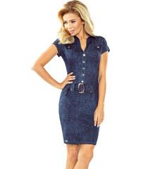 NUMOCO Upnuté džínové šaty s knoflíky 142-5 3f785fb0595