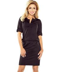 6e84f2625517 NUMOCO Čierne šaty s golierom AGATA 161-1