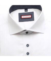 07550a6f9b0 Pánská košile Slim Fit Pinto bílá - bílá - Glami.cz