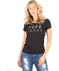 Pepe Jeans dámské černé tričko Rocco 22f8d77dde