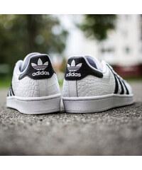 Pánske Bielo Čierne Tenisky Adidas Originals Superstar 8bc1552d291