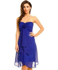 Dámské společenské značkové šaty MAYAADI středně dlouhé tmavě modré 9698e94520