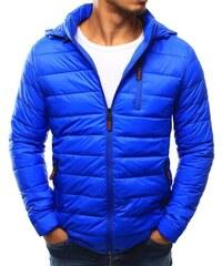 38f1452b6bd1 Manstyle Pánská bunda prošívaná s kapucí světle modrá