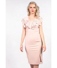 20546f42d5fc ASOS ružové midi šaty s volánom