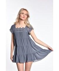 03496f7010e1 iné Modrošedé letné mini šaty