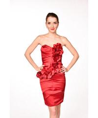 LIPSY červené kvetované šaty bez ramienok 9fd6d70e5b5