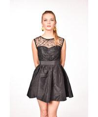 f3babe441024 iné Čierne koktejlové mini šaty