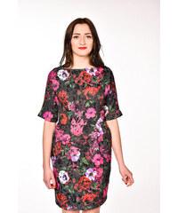 ASOS čierne puzdrové kvetované šaty 7f97fef43a5