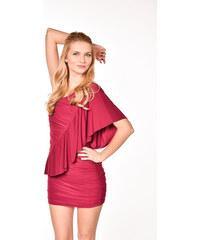 901950749b46 ASOS červené šaty s volánom na jedno rameno