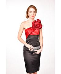 c572aa83bdde Karen Millen čierne šaty s kvetom na jedno rameno