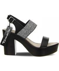 c6a252036032 TAMARIS Dámské sandály na podpatku Tamaris 1-28058-36 černé