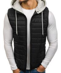 Čierne Pánske vesty s kapucňou - Glami.sk b70c8bd7ad6