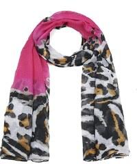Intrigue Šátek s leopardím vzorem rosa