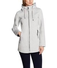 8ba76a8f32b518 TOM TAILOR Damen Trainingsjacke bonded jersey jacket Grau (Light Silver  Melange 2051) 36 (