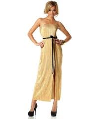 Dlouhé zlaté maxi šaty MELROSE 38 zlatá