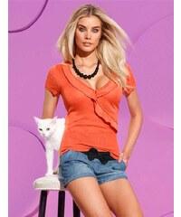 Značkový zavinovací svetr Pussy Deluxe (vel.36 skladem) 32 oranžová