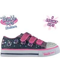 Plátěnky Skechers Twinkle Toes Shuffles Child Girls Trainers 547de8ff7d