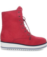 Ctogo GOGO Červené kotníkové boty 6207-3R 07f18606ee