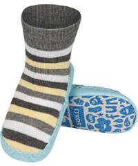 da83c98d814d Detské papuče s koženou podošvou SOXO PRÚŽKY