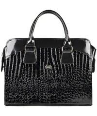 88bb8c47a5 Dámská luxusní taška na notebook černý lak kroko ST01 15.6