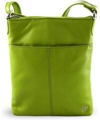 c4420d3972 Arwel Zelená kožená zipová crossbody kabelka Jenny