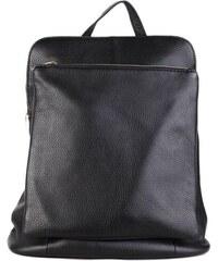 ITALSKÉ Italský kožený batoh a kabelka v jednom černý Navaro 67765bb576