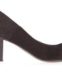 Escarpins contrefort pailleté Noir Polyester - Femme Taille 37 - Bréal
