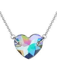 6abb0a6ee EVOLUTION GROUP Strieborný náhrdelník s krištáľmi Swarovski zeleno-fialové  srdce 32021.5