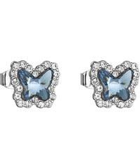 EVOLUTION GROUP Náušnice bižutéria so Swarovski kryštálmi modrý motýľ  51061.3 43d98f6a723