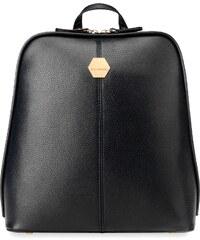 ... Stylový dámský batoh s klopou zpevněné dno eko kůže červená. Detail  produktu. World-Style.cz Vkusný dámský batoh se zpevněným dnem - černý 184e233a6c