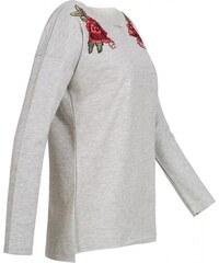 HAILYS Hailys dámská mikina Rossy s výšivkou šedá 44d754c571