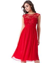 CITYGODDESS Společenské šaty Divine krátké červené 2114639545