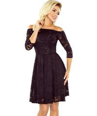 NUMOCO Černé krajkové šaty 168-1 2626d41b27