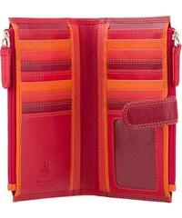 Visconti červená dámská kožená peněženka s dvěma kapsami a RFID 49024f395a