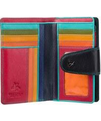 2f26d30ecab Visconti černá peněženka s barevným vnitřkem a RFID