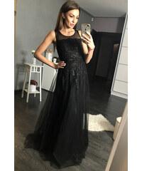 Dámské společenské šaty dlouhé flitrové EVA   LOLA černé b18450c7c5