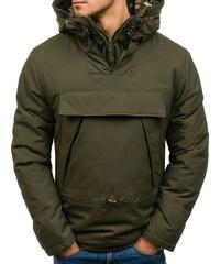 c37076c2a6df Zelená pánská zimní bunda anorak Bolf 1786