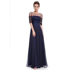 75ac4e46a8c Ever Pretty plesové a společenské šaty s krajkou modrá