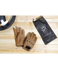 Kožené rukavice 4SR car classic brown Racing Syndicate 7257de3a0a