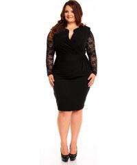 94a7cc4fc914 KarteS Čierne elegantné šaty s čipkou KM56KPS