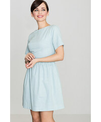 36cfe62b8097 Lenitif Dámske svetlomodré riflové šaty s krátkym rukávom K164