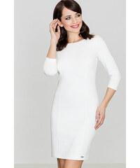 33e89c123c7d Lenitif Dámske biele púzdrové šaty s 3 4 rukávom K317