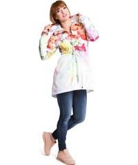 Happymum Tehotenská bunda Parka flower jacket (j451) e5f50574d06
