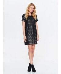 Top Secret šaty dámské černé vzorované s krátkým rukávem b6ed61603a