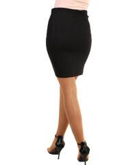a1810e72cb42 Glara Dámská černá pouzdrová sukně i pro plnoštíhlé