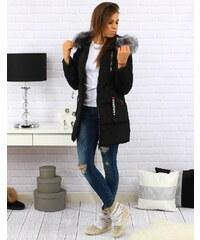 Zimná prešívaná bunda (ty0175) - čierna